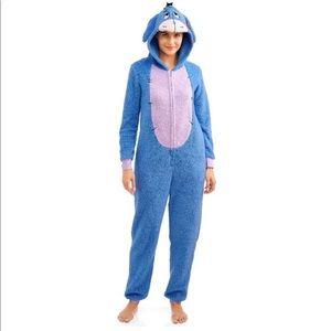 Womens Eeyore Union Suit Pajama Halloween